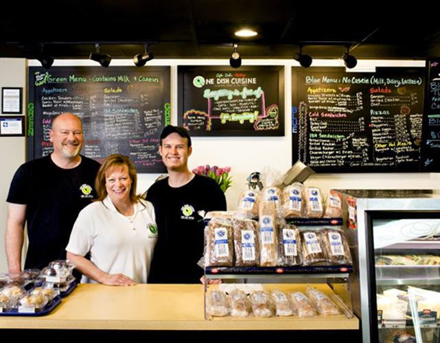 One Dish Cuisine's Owner, Maureen Burke, and her team