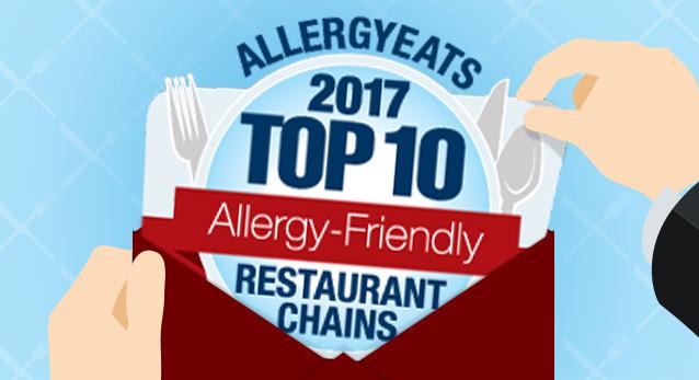 Top 10 Allergy-Friendly Restaurant Chains 2017