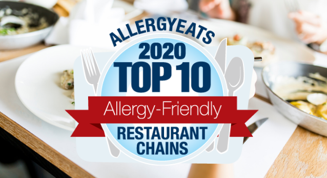 2020 Top 10 Most Allergy-Friendly Restaurant Chains