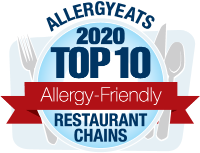 AllergyEats Top 10 Allergy-Friendly Chains 2020
